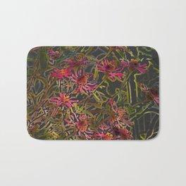 Zinnia Pink Abstract by CheyAnne Sexton Bath Mat