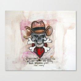 Cowboy Skull, A tribute to Waylon Jennings Canvas Print