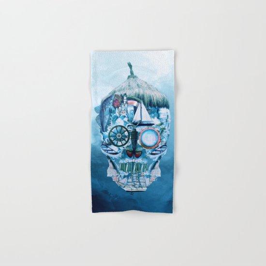 Skull Ocean Blue Hand & Bath Towel