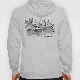 WAY OF THE OCEAN - Waves Print Hoody