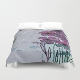 Meadow flowers lilac Duvet Cover