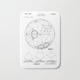 Buckminster Fuller 1961 Geodesic Structures Patent Bath Mat