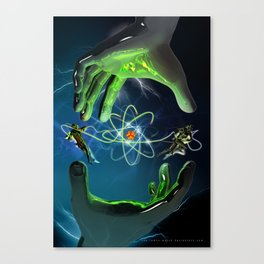 The Atom Control Canvas Print