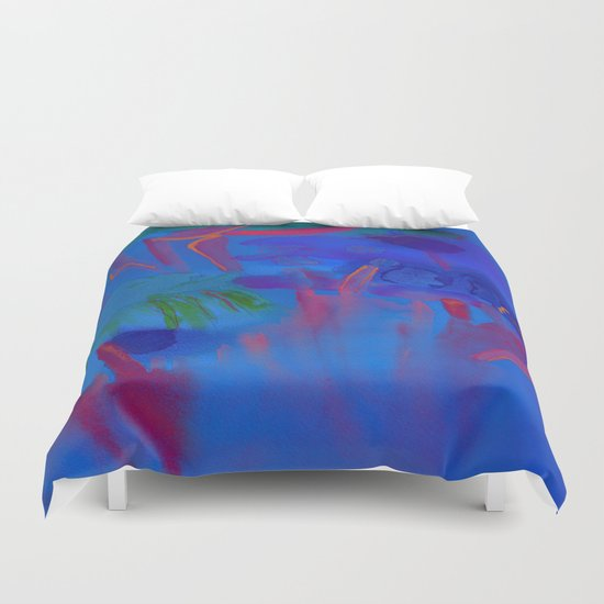 Night Flowers Duvet Cover