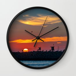 Sunset at the Wedge Wall Clock
