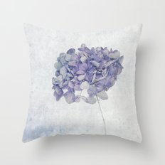 Blue Vintage Hydrangea Throw Pillow
