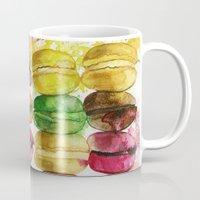 macarons Mugs featuring macarons by Olga Gridneva