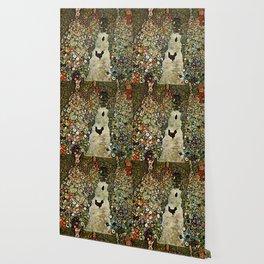 """Gustav Klimt """"Garden Path with Chickens"""" Wallpaper"""