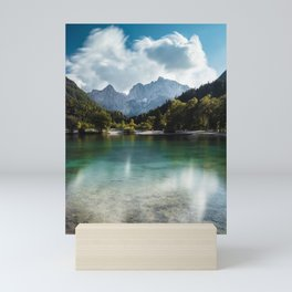 Lake Jasna in Kranjska Gora, Slovenia Mini Art Print