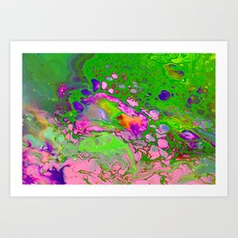 Green Acid Art Print