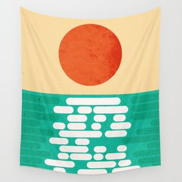 Sun over the sea Wall Tapestry