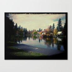 A quiet park Canvas Print