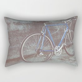 Racing bicycle outdoors Rectangular Pillow