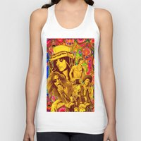 springsteen Tank Tops featuring The Seventies 1970's Alice Cooper, Jackson, Springsteen, Aerosmith by Storm Media