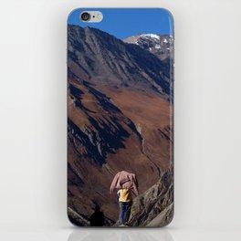 Enjoying the Scenery Yak Kharka to Thorung Phedi iPhone Skin