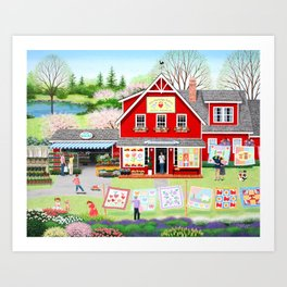 Springtime Wishes Art Print