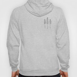 Pine Trees Pen and Ink Illustration Hoody