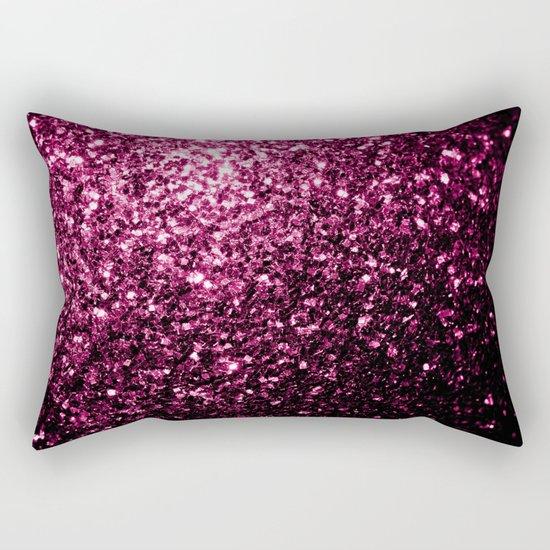 Beautiful Pink glitter sparkles Rectangular Pillow