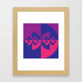 Geometric No. 39 ying-yang variation 5 Framed Art Print