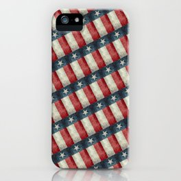 Vintage Texas flag pattern iPhone Case
