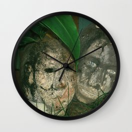 encased in cement Wall Clock