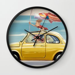 yellow 500 Wall Clock