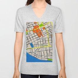Map of Charleston, SC Unisex V-Neck
