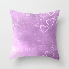 heart love cute pink Throw Pillow