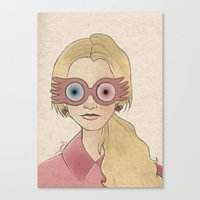 luna lovegood Canvas Prints featuring Luna Lovegood by Joan Pons