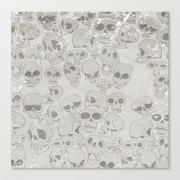 Skulls Pattern Canvas Print