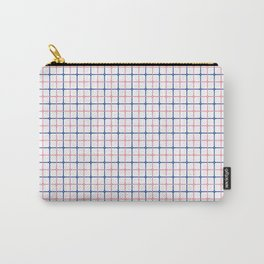 Pink and Blue Lines Carry-All Pouch