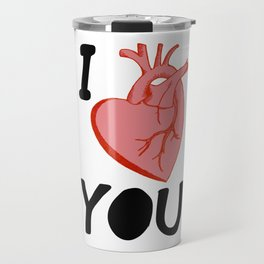 I Love You (white) Travel Mug