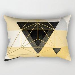 Yellow Geometric Rectangular Pillow