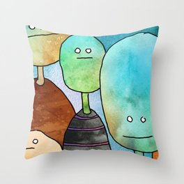 The Quiet Gathering Throw Pillow