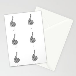 Treble clef sol Stationery Cards