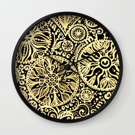 golden heart I love you Wall Clock