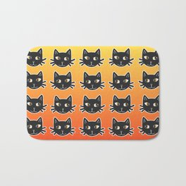 Black Cats Halloween Pattern Bath Mat