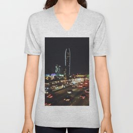 DOWNTOWN L.A. - PHOTOGRAPHY Unisex V-Neck