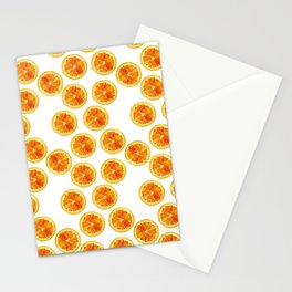 Watercolor Digital Graphic Design Painting Orange Slices Pattern Stationery Cards