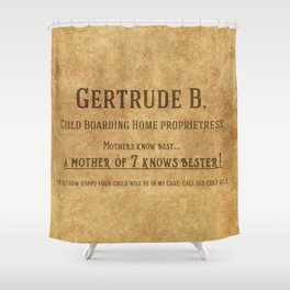 Gertrude B's Child Care Services Shower Curtain