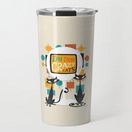 Dig Those Crazy Cats Travel Mug