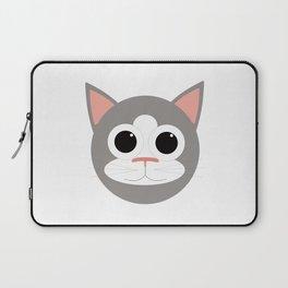 Grey & White Cat Laptop Sleeve