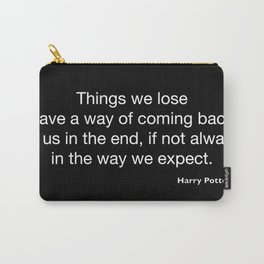 Harry P quote 2 Carry-All Pouch