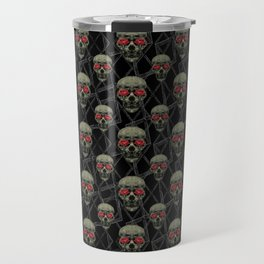 Skulls Motif Pattern Travel Mug