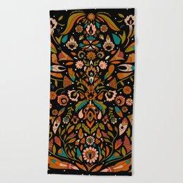 Botanical Print Beach Towel