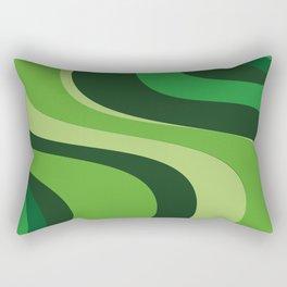 70's Green Vibe Rectangular Pillow