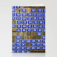 numbers Stationery Cards featuring Numbers by Marieken