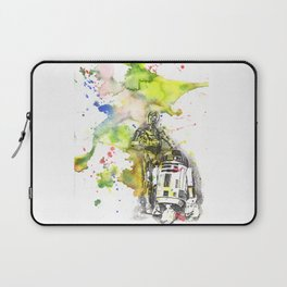 C3PO and R2D2 from Star Wars Laptop Sleeve