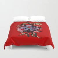 dragon Duvet Covers featuring Dragon by Spooky Dooky
