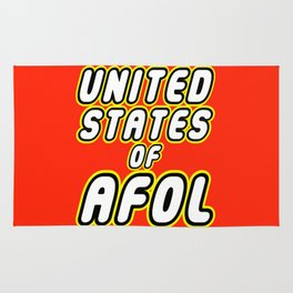 UNITED STATES OF AFOL in Brick Font Logo Design by Chillee Wilson Rug